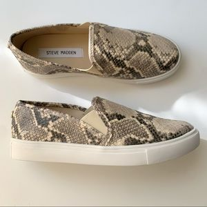 New Steve Madden Snakeskin Slip-ons Sneakers